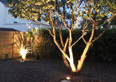 Jardidéal PAYSAGISTE, Nantes : réalisation de l'éclairage d'un jardin