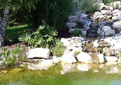 Jardidéal PAYSAGISTE, Nantes : Maçonnerie d'un bassin d'agrément naturel