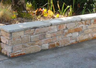 Jardidéal Paysagiste, Maçonnerie paysagère Nantes 44, muret stone plack orient