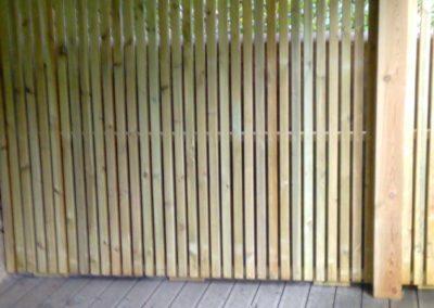Jardidéal PAYSAGISTE, réalisation d'une occultation en bois sur liteau à Nantes 44