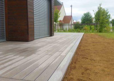 Terrasse composite timbertech, Jardidéal paysagiste Nantes st Nazaire
