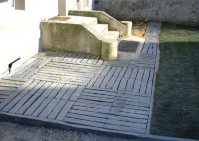 Jardidéal PAYSAGISTE Nantes 44 , réalisation d'une terrasse : aménagement extérieur paysager