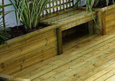 Jardideal Nantes, terrasse et bacs en bois de pin