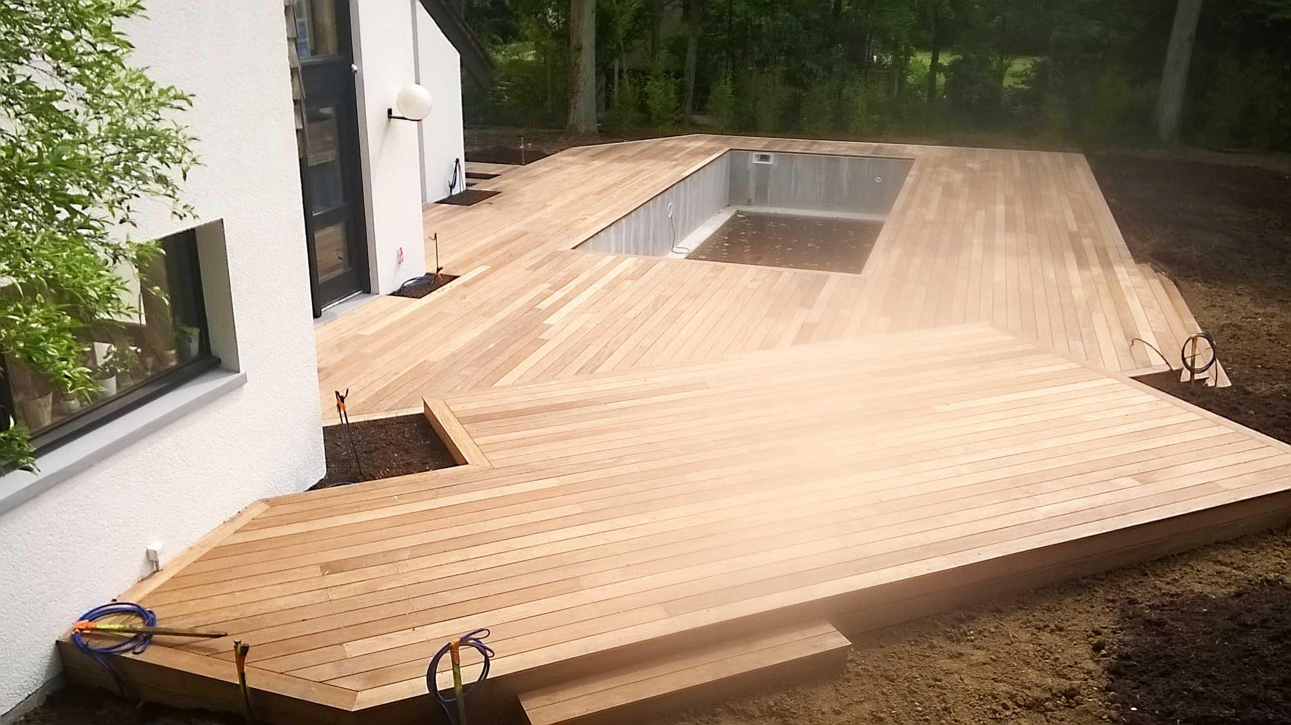Réalisation d'une terrasse bois ipe 3, Nantes