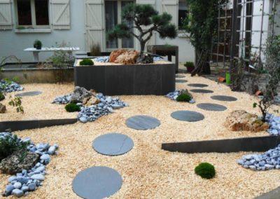 Décor minéral japonais, aménagement jardin