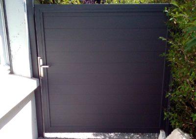 Pose portillon aluminium Nantes : Porte Alu 180.180 Traumgarten