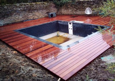 Terrasse en Cumaru autour bassin / piscine à Nantes