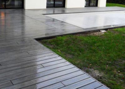 Amenagement Terrasse en bois composite Trex à Nantes par Jardideal Paysagiste